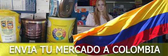 enviar a COLOMBIA mercado comida paquetes viveres alimentos